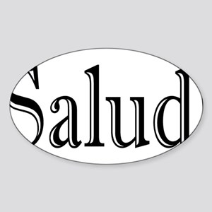 SaludDark Sticker (Oval)