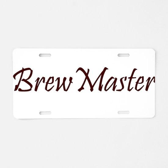 BrewMasterFilledBrown.png Aluminum License Plate