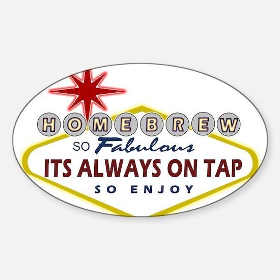 HomeBrewVegasSign.PNG Sticker (Oval)