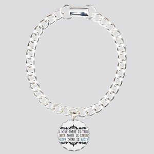 WineTruthBeerStrength Charm Bracelet, One Char