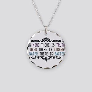 WineTruthBeerStrength Necklace Circle Charm
