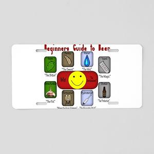 BeginnersBeer Aluminum License Plate