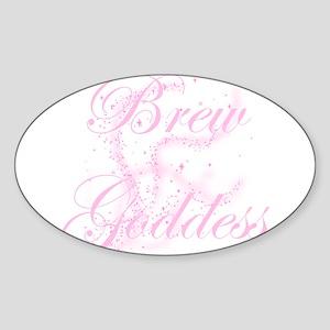 BrewGoddessGlitter Sticker (Oval)