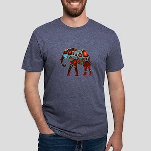 WISDOM WAVE Mens Tri-blend T-Shirt