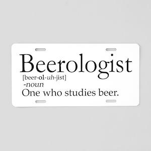 BeerologistDark Aluminum License Plate