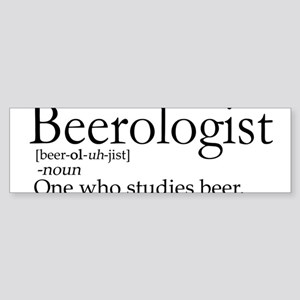 BeerologistDark Sticker (Bumper)