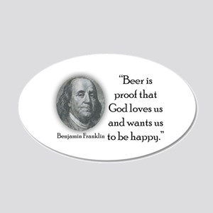 BenFranklinCPBlack.png 20x12 Oval Wall Decal