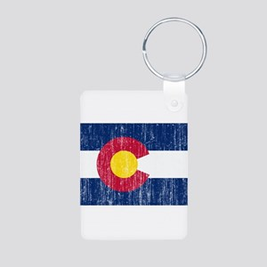 Colorado Flag Aluminum Photo Keychain