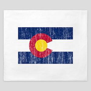 Colorado Flag King Duvet