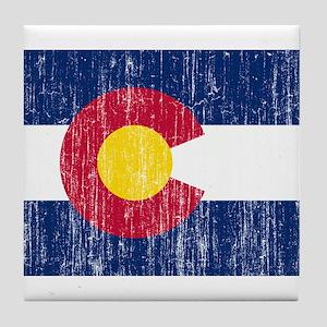 Colorado Flag Tile Coaster