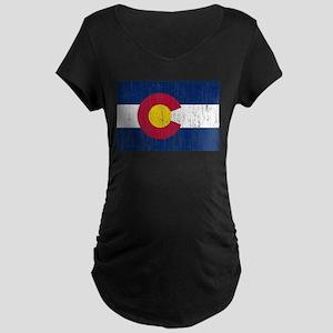 Colorado Flag Maternity Dark T-Shirt
