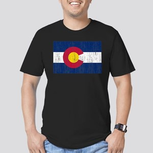 Colorado Flag Men's Fitted T-Shirt (dark)