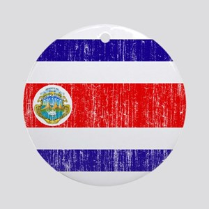Costa Rica Flag Ornament (Round)