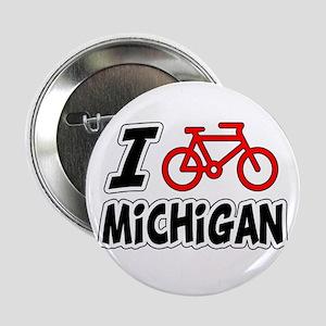 "I Love Cycling Michigan 2.25"" Button"