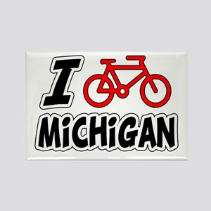 I Love Cycling Michigan Rectangle Magnet