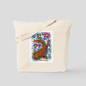 Koi Fish Art by Julie Oakes Tote Bag