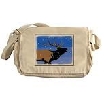 Winter Bugling Elk Messenger Bag