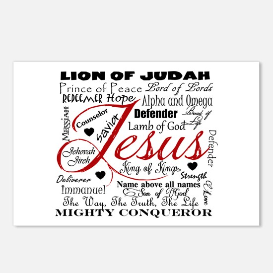 The Name of Jesus Postcards (Package of 8)
