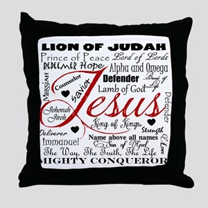 The Name of Jesus Throw Pillow