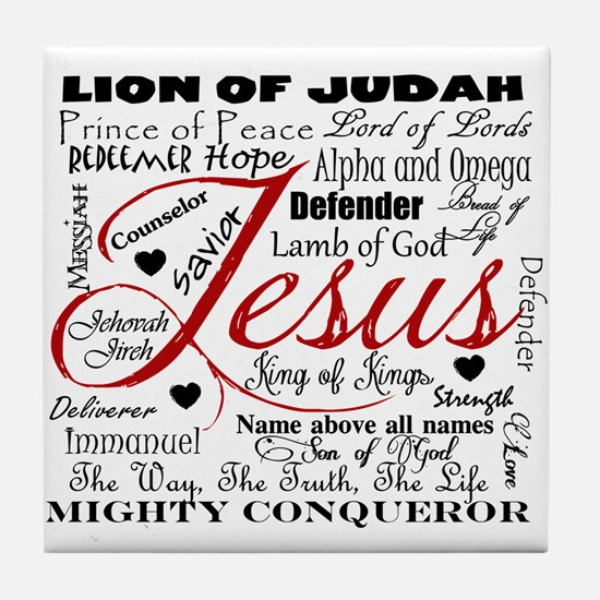 The Name of Jesus Tile Coaster