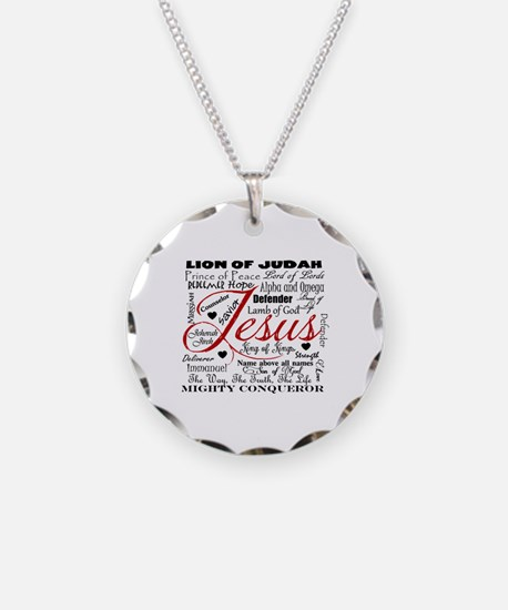 The Name of Jesus Necklace Circle Charm