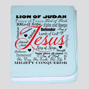 The Name of Jesus baby blanket