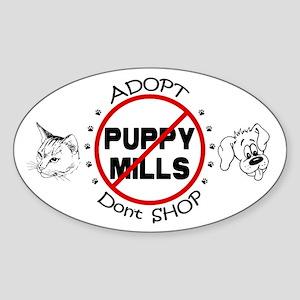Adopt Don't Shop Sticker (Oval)