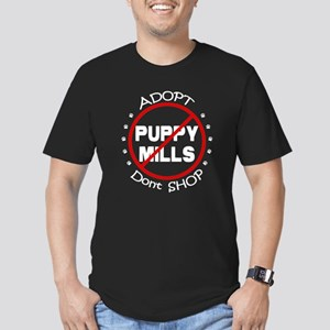 Adopt Don't Shop Men's Fitted T-Shirt (dark)