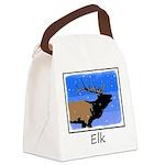 Winter Bugling Elk Canvas Lunch Bag