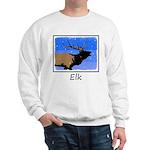 Winter Bugling Elk Sweatshirt