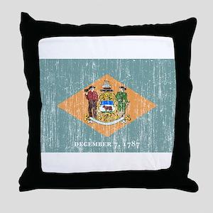 Delaware Flag Throw Pillow