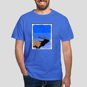 Winter Bugling Elk Dark T-Shirt