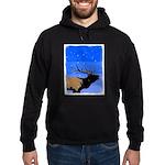 Winter Bugling Elk Hoodie (dark)