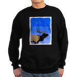 Winter Bugling Elk Sweatshirt (dark)