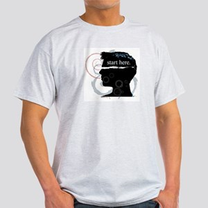 Revolutions Start Here Graphic Ash Grey T-Shirt