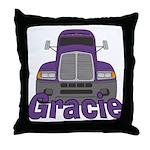 Trucker Gracie Throw Pillow