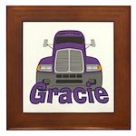 Trucker Gracie Framed Tile
