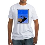 Winter Bugling Elk Fitted T-Shirt