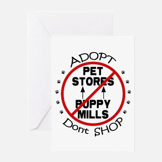 Adopt Don't Shop Greeting Card