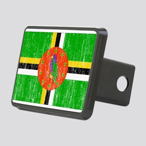 Dominica Flag Rectangular Hitch Cover