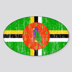 Dominica Flag Sticker (Oval)