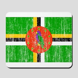 Dominica Flag Mousepad