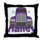 Trucker Hailey Throw Pillow