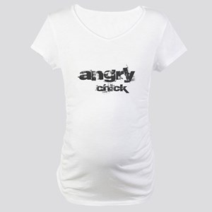 Angry Chick Maternity T-Shirt