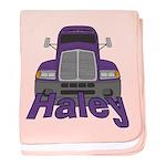 Trucker Haley baby blanket