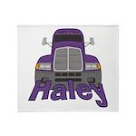 Trucker Haley Throw Blanket