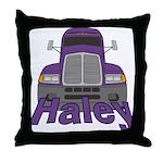 Trucker Haley Throw Pillow