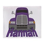 Trucker Hannah Throw Blanket