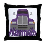 Trucker Hannah Throw Pillow