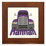 Trucker Hannah Framed Tile